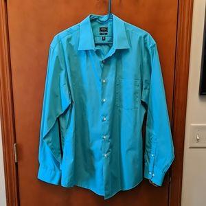 Aqua color dress shirt EUC